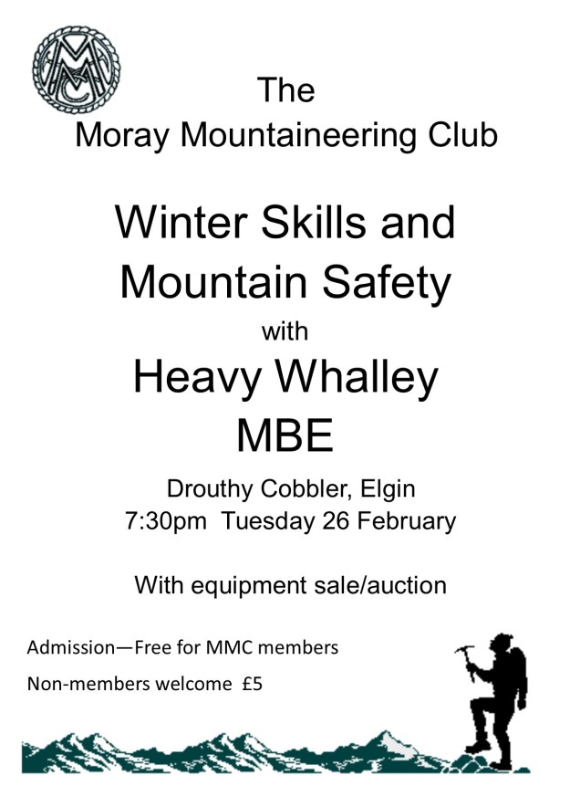 Mountain Safety talk poster